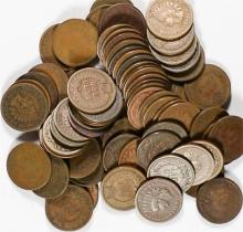 (100) Indian Head Cents from Image