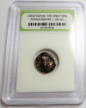 Encapsulated Ancient  Constanitne Era Bronze Coin