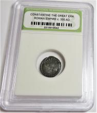 Encapsulated Constantine Bronze Ancient Coin