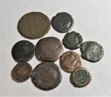 Lot of 10 Anceint Constantine Era Bronze Coins