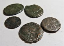 5 pc. Better Grade Lot of Constantine Era Coins