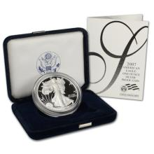 2007 W American Silver Eagle Proof $1 OGP