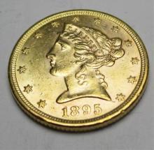 1895 $ 5 Gold Liberty