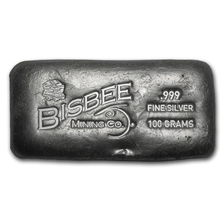 100 Gram Silver Bar Bisbee