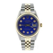 $12k Fancy Diamond DIal Rolex 14k / SS