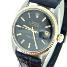 Rolex Datejust 2 tone 14k/SS - Black Dial