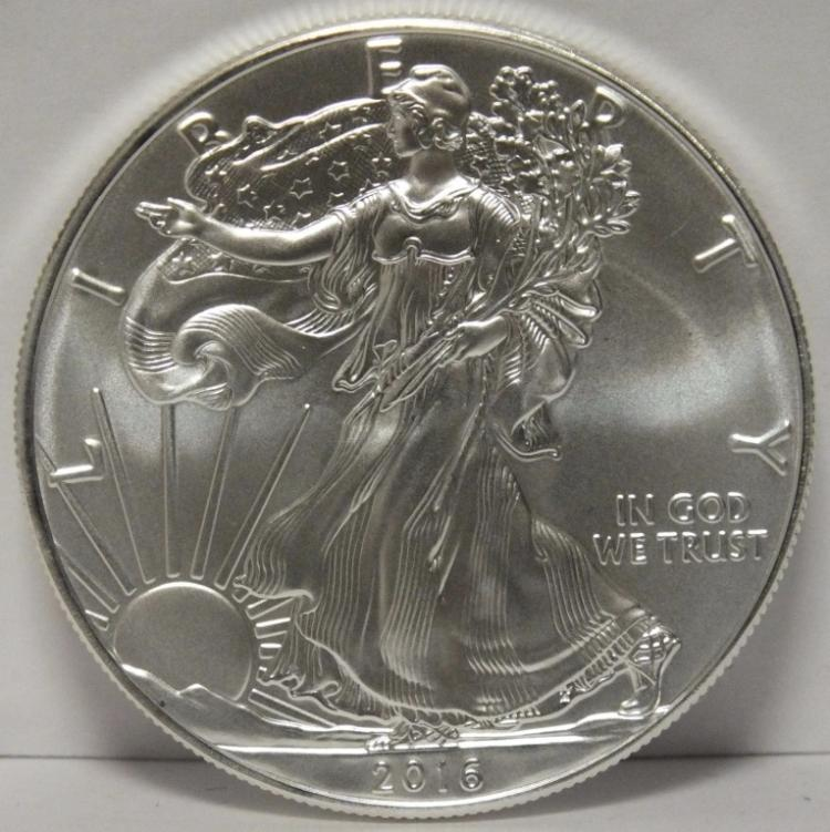 2016 US Silver Eagle GEM Brilliant Uncirculated