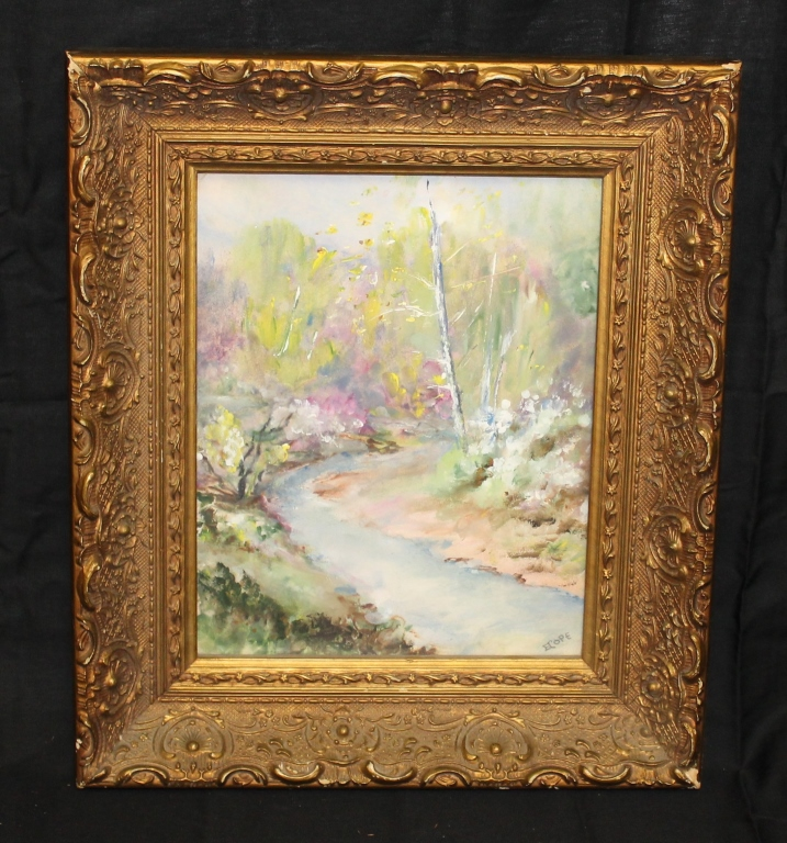 Edith Cope Oil Painting in Gilded Frame CAL Artist