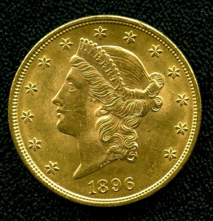 1896 P $ 20 Gold Liberty Double Eagle