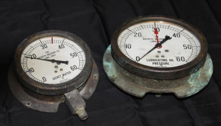 2- Steampunk Antique Gauges - Buckeye Machine