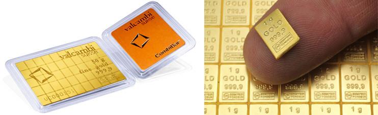 50 Gram Valcambi Gold Combibar - Gold .999