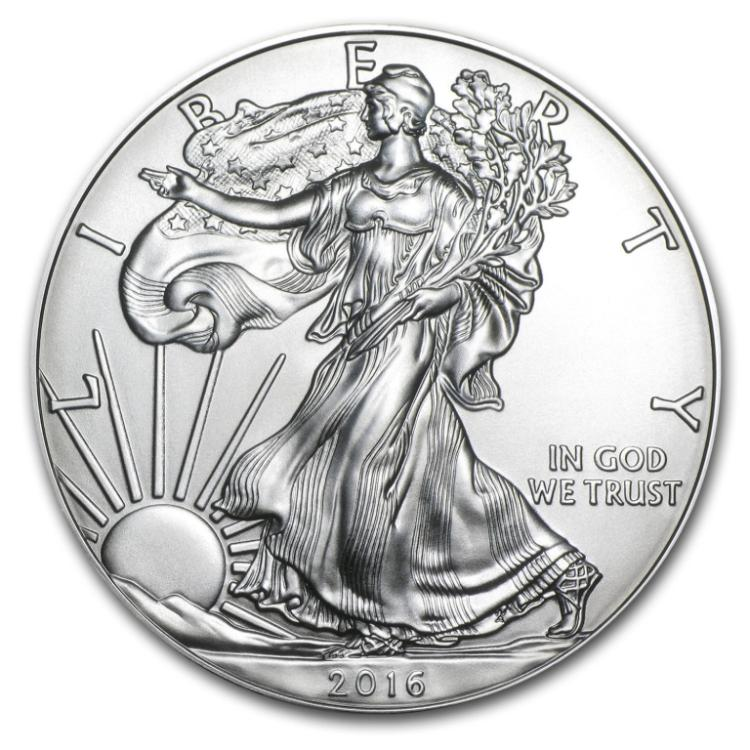 2016 US Silver Eagle 1 oz Silver Bullion GEM BU