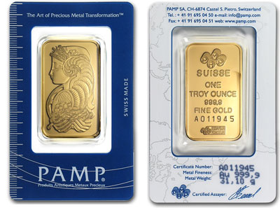 1 Ounce Pamp Suisse Gold Bar