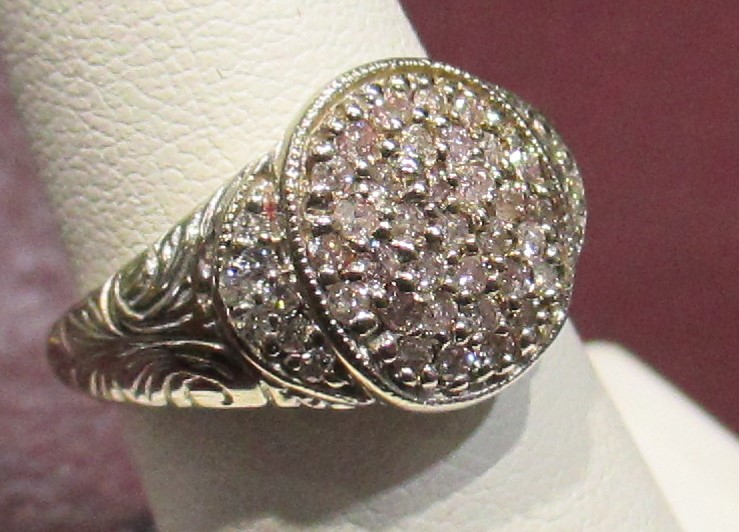 Art Nouveau Diamond Estate Ring- 1/2 ct.