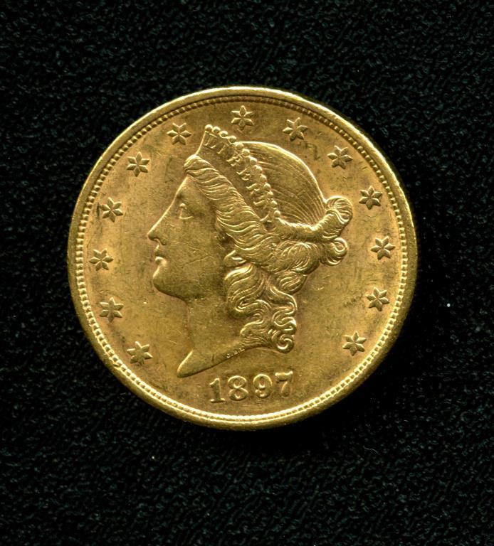1897 S $ 20 Gold Double Eagle Liberty Coin