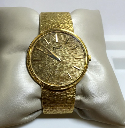 Fine Estate 18k YG Piaget Wristwatch 34 grams