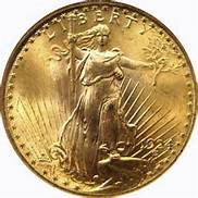 1924 Gold Saint Gauden's $ 20 Gold Double Eagle