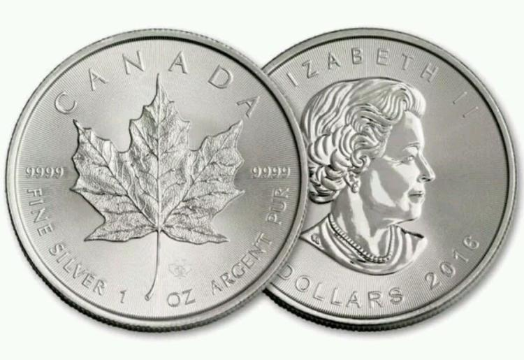 1 oz. Silver Canadian Maple Leaf GEM BU