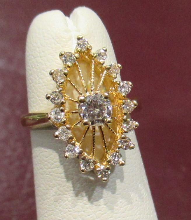 1/2 Carat Diamond Ring in 14k YG