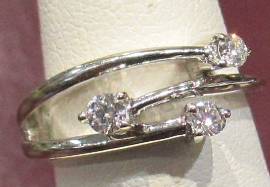 Fancy Estate Diamond Ring -14k WG - .25 tcw.
