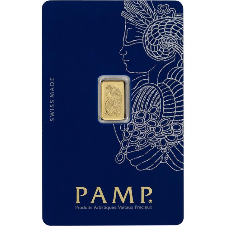 1 Gram Pamp Suisse Gold Bullion on Card