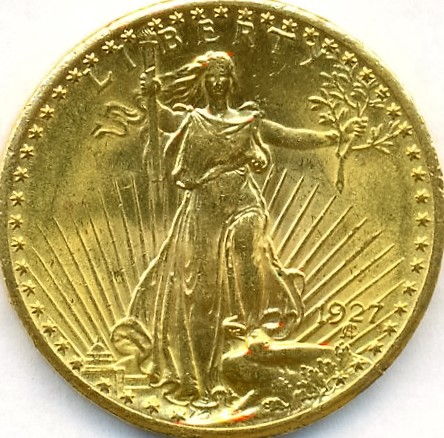 1927  $20 Gold Saint Gauden's Double Eagle