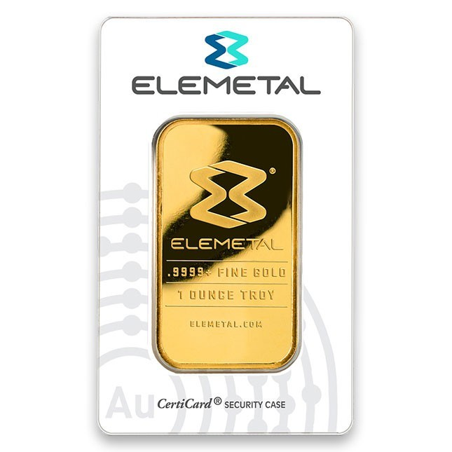Elemetal 1 oz. Pure Gold Bar
