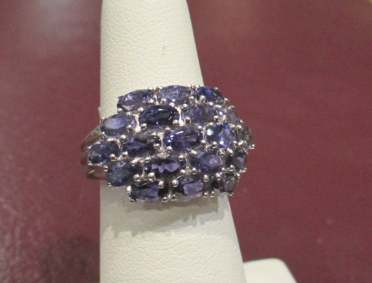 14k Mount Multi Stone IOLITE Ladies Ring