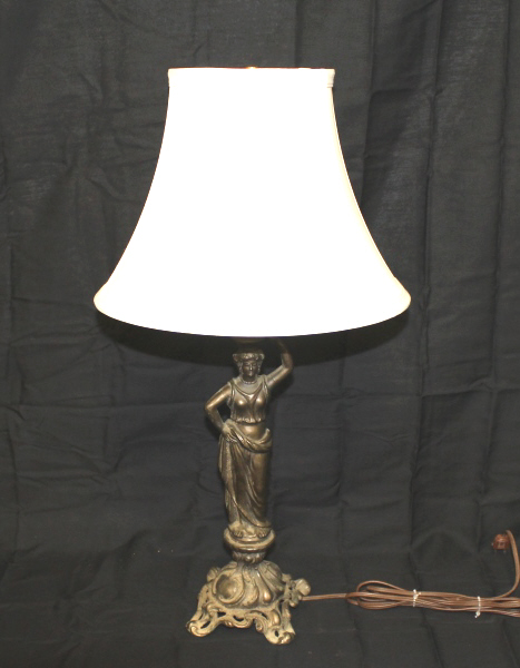 Classical Figure Spelter Table Lamp -