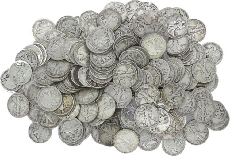 228 Walking Liberty Half Dollars-90% Silver