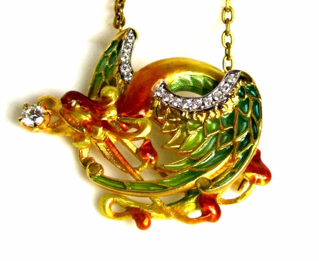 Masreira 18k YG DRAGON PIN - Enameled