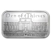 1 oz Silver Bar - .999 Pure DEN OF THIEVES