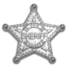 5 oz. Monarch Silver Sheriff's Badge .999 Pure