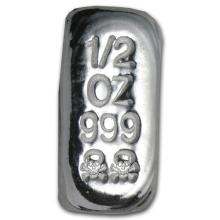 1/2 oz. Skull and Crossbones Pure Silver .999 pure