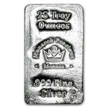 25 oz. Monarch Poured silver Bar - .999 pure