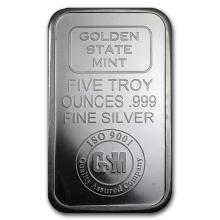 5 oz. Golden State Mint - .999 Pure Silver