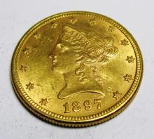 1897 P $10 AU Plus Grade Liberty Gold