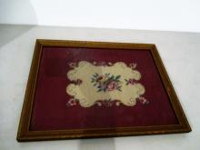 Antique Framed Needlepoint