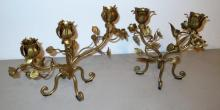 Fancy Gilded Candle Holders