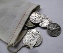 Canvas Bag - 175  Walking Liberty Halves -90%