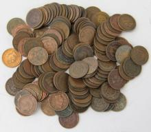 125 Indian Head Cents - Mixed Dates and Grades