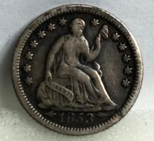 1853 Half Dime with Arrows