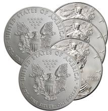 Lot of (5) US Silver Eagles -