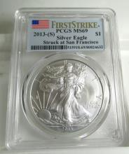 2013 S MS 69 PCGS US Silver Eagle