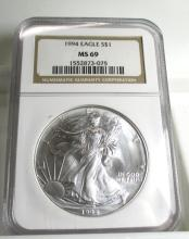 1994 MS 69 NGC US Silver Eagle