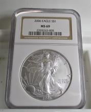 2006 MS 69 NGC US Silver Eagle