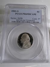 2003 S PRF 69 DCAM PCGS Jefferson Nickel
