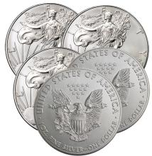 Lot of (5) US Silver Eagles - 2016 -