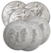 Lot of (6) US Silver Eagles -2016
