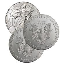(3) US Silver Eagles - 2016
